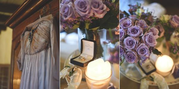 lilac bridal details