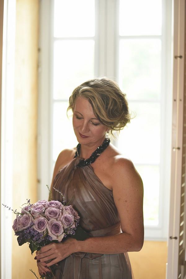 lilac rose bridal bouquet