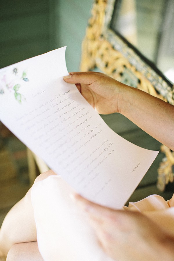 love letter wedding day