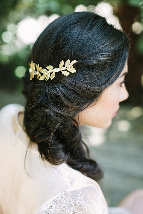 pretty wedding hair idea