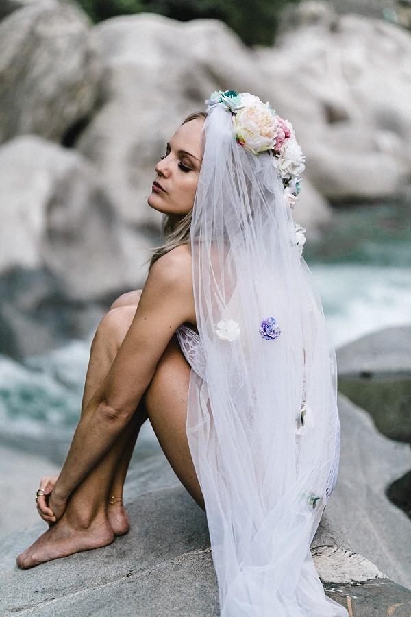 romantic boudoir veil