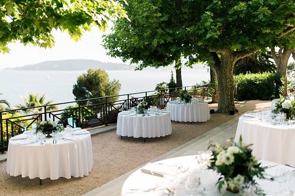 sea view wedding reception