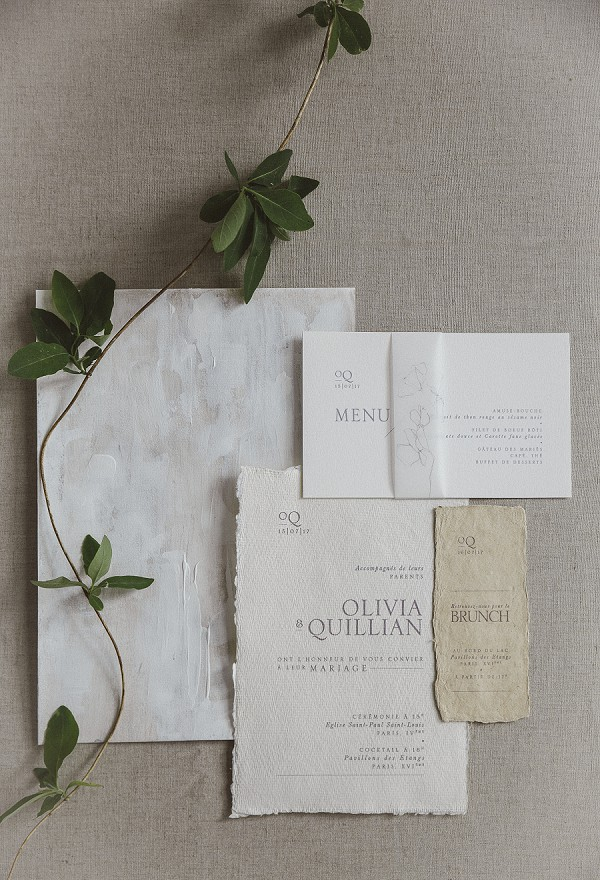 simple wedding stationery suite