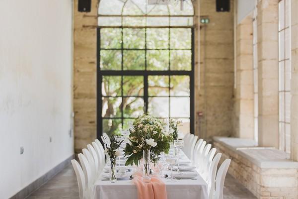 simple wedding tablescape