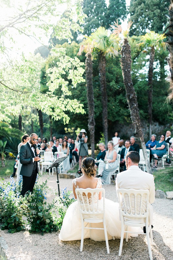 sunshine drenched ceremony