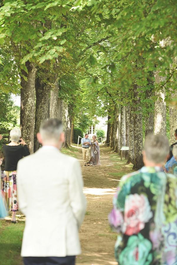 tree line ceremony aisle