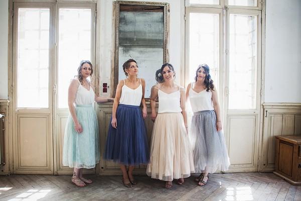 tulle skirt bridesmaid dresses