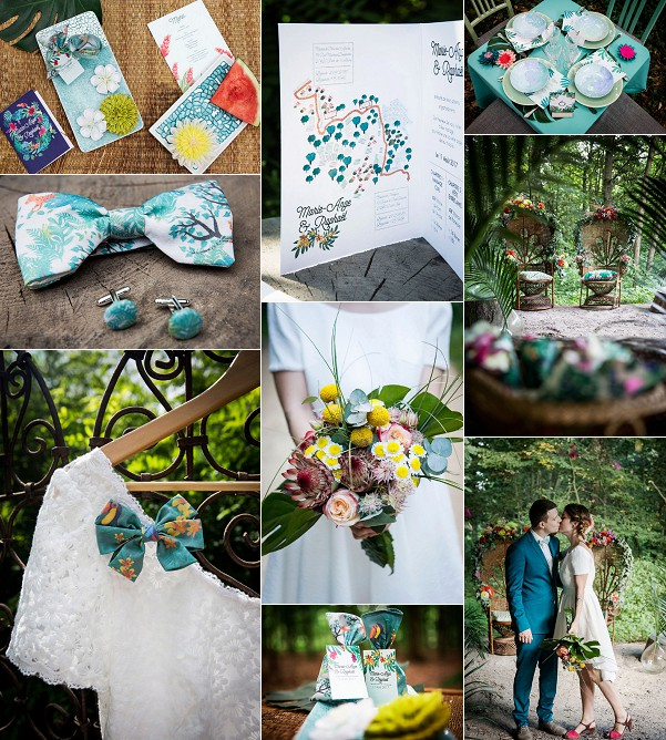 A Tropical Jungle Inspired Wedding Styled Shoot Snapshot