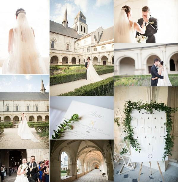 Rosa Clara For Fontevraud l'Abbaye Real Wedding Snapshot
