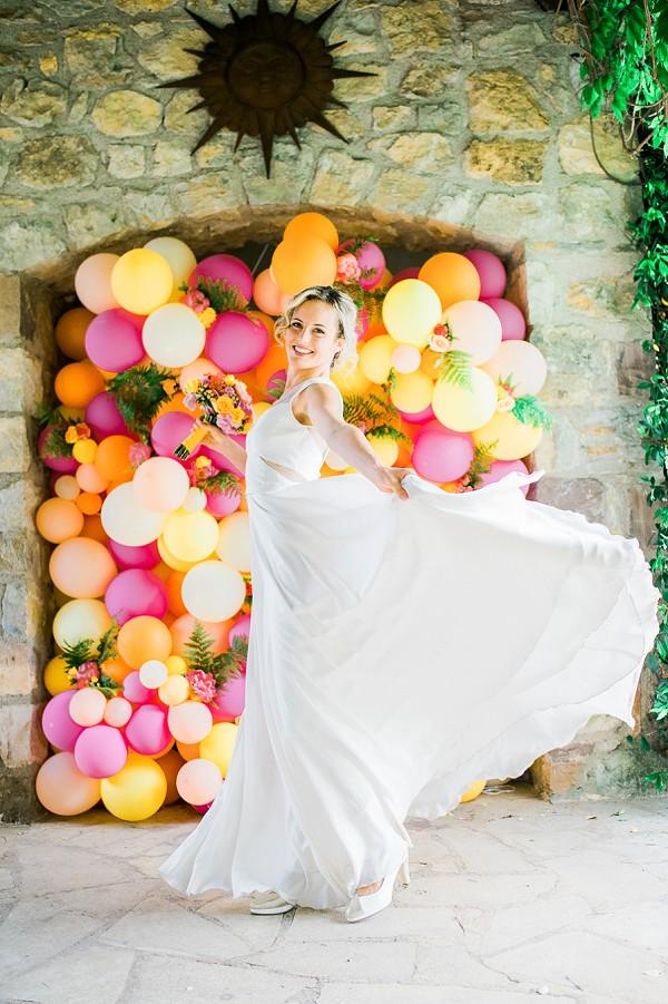 bright bridal decor