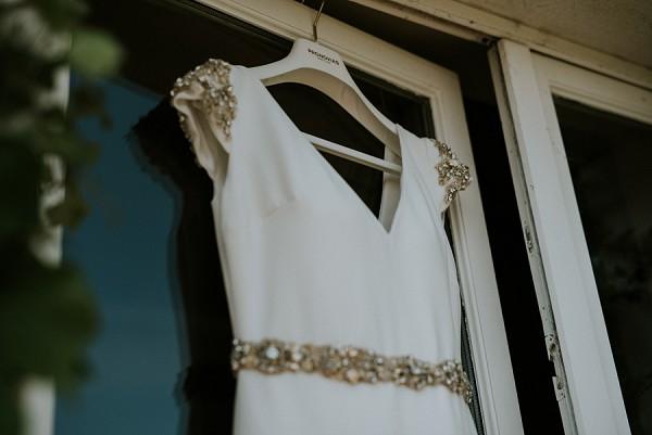 capped sleeve Pronovias dress