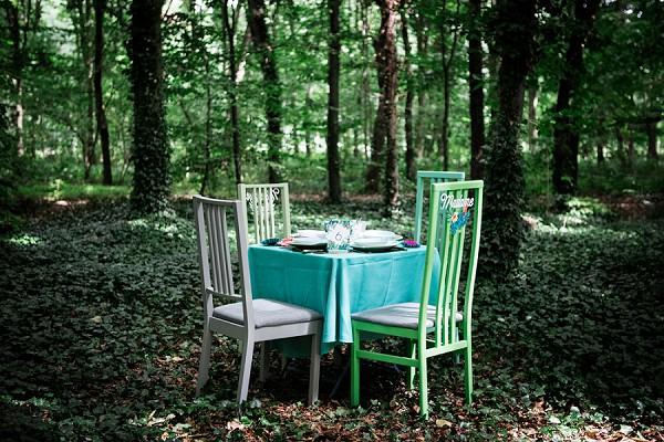 forest wedding dinner