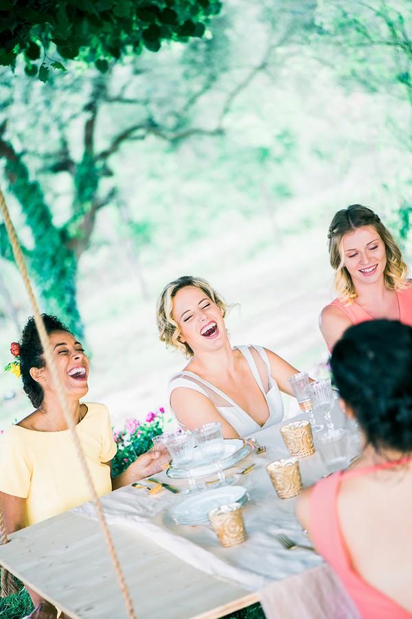 garden party bridal shoot