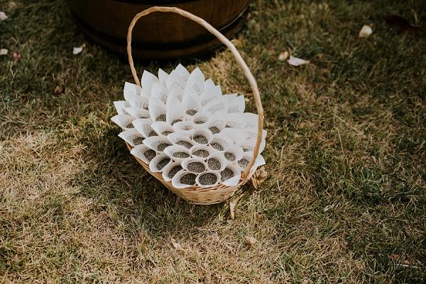 lavender wedding confetti cones