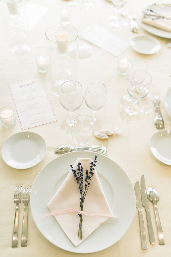 lavender wedding touches