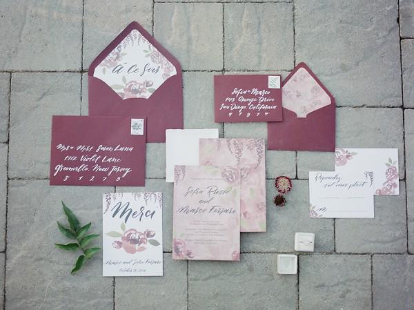 luxury wedding invite suite