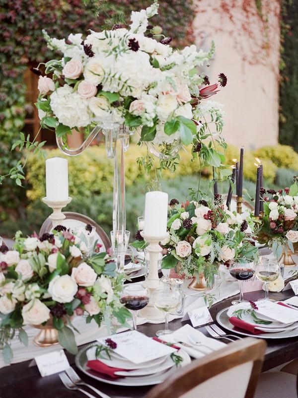 maroon wedding theme