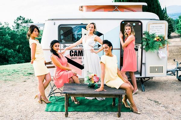 mobile wedding make up truck