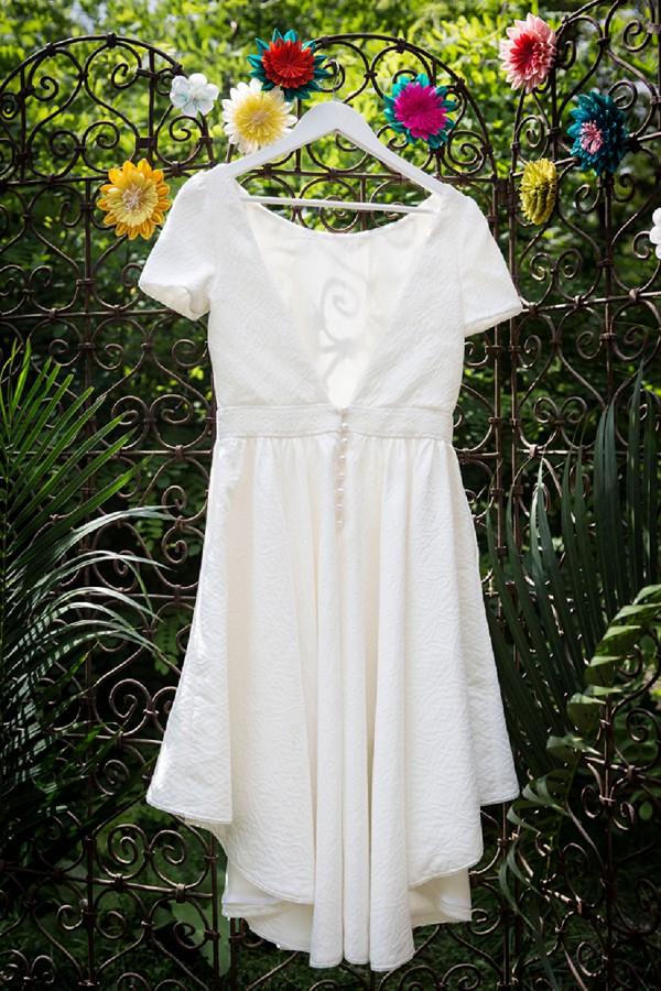 short bridal dress