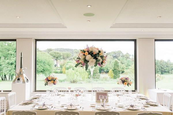 tall wedding table flowers