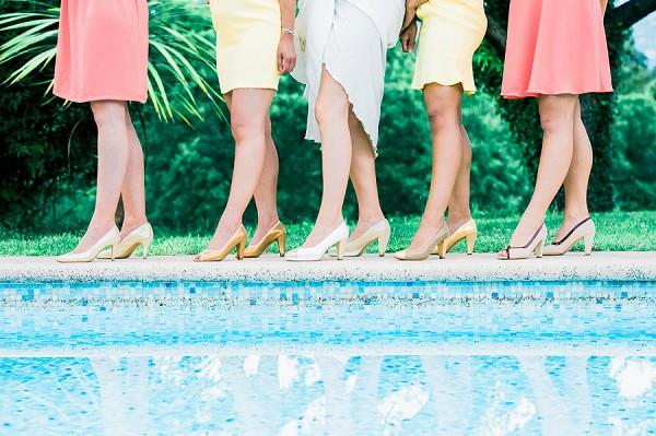 wedding party heels