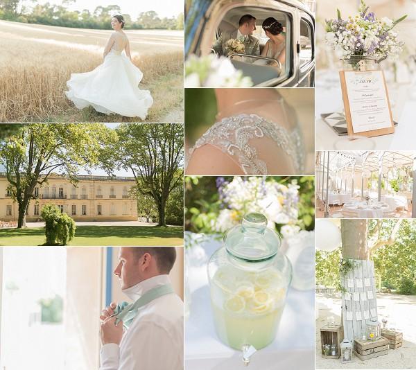 Château de Valmousse Pastel Coloured Wedding Snapshot