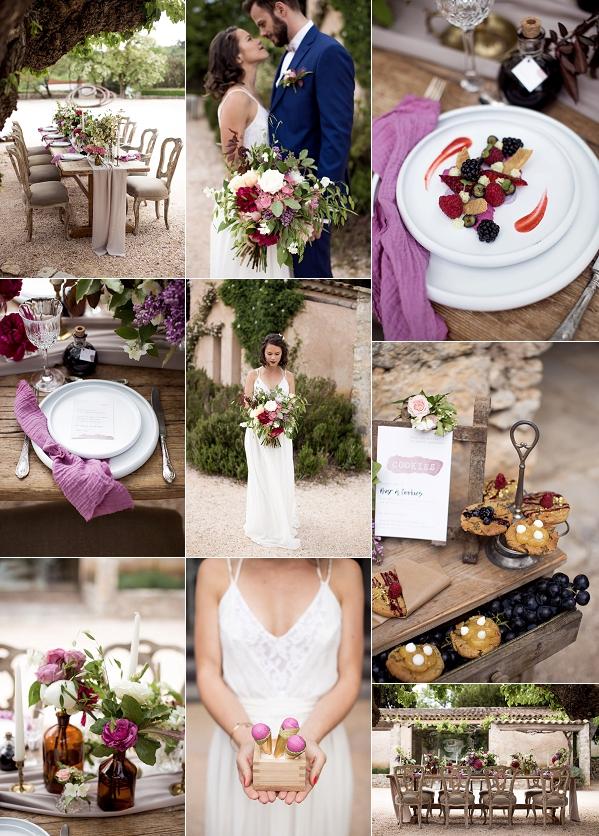 Colourful La Commanderie de Peyrassol Wedding Snapshot