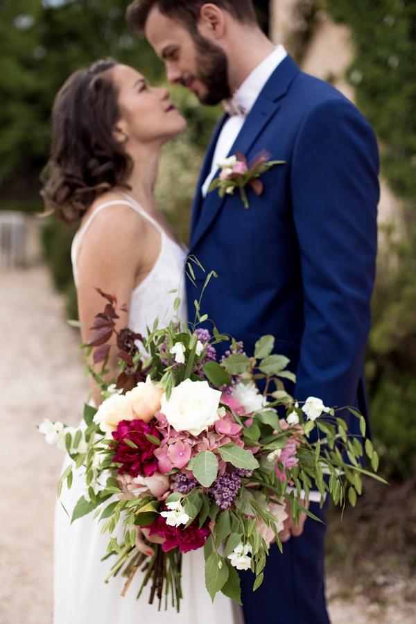 Louis Purple groom attire