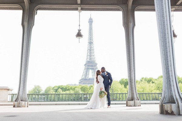 Paris wedding photo