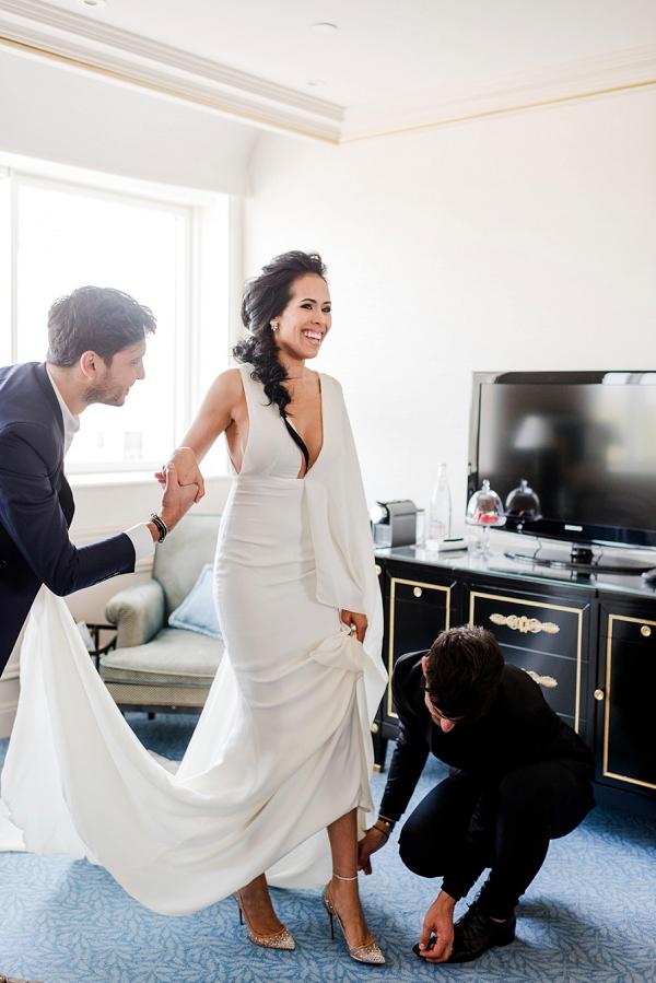 Shangri La bridal getting ready