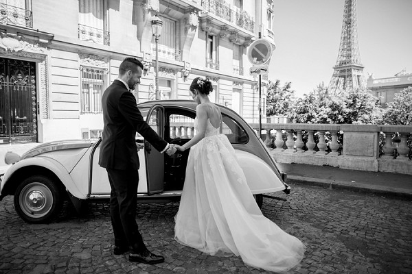 backless wedding dress Paris