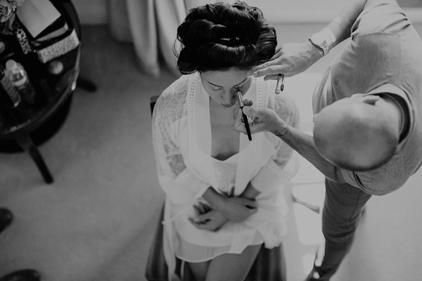 bridal wedding preparations