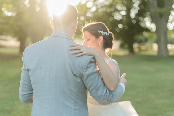 bride and groom chateau wedding
