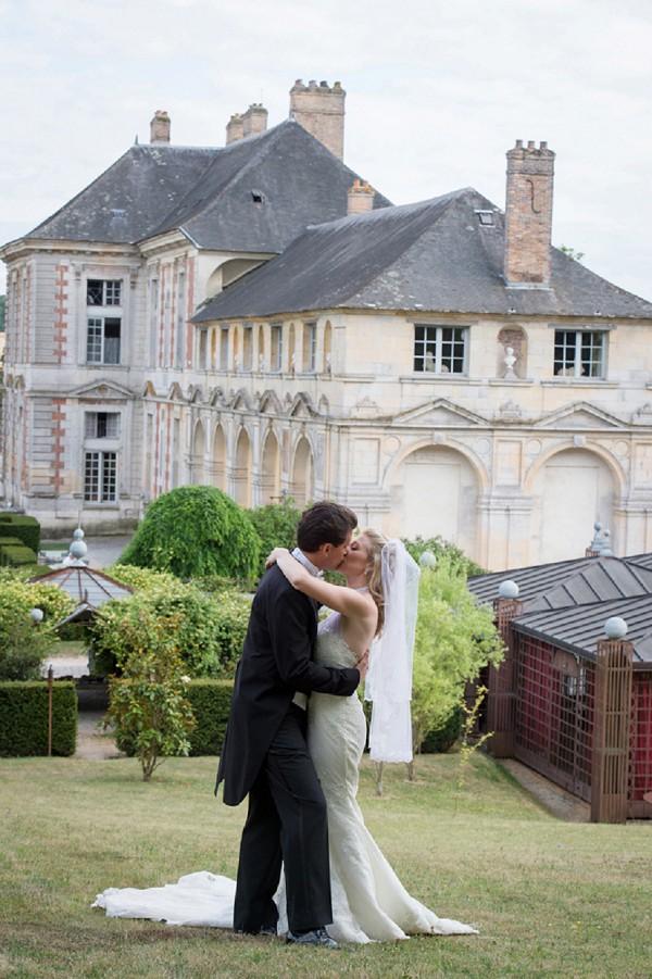 chateau bride and groom portraits