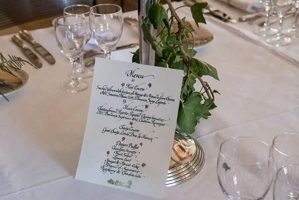 chateau wedding menu