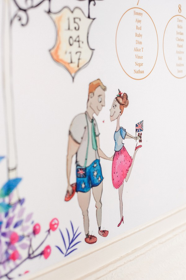 illustrated wedding table plan