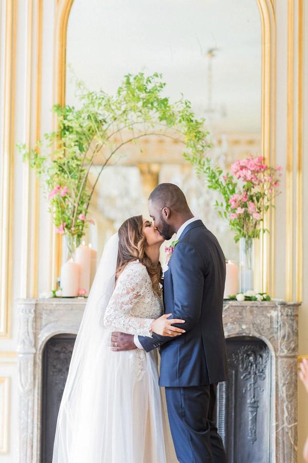 mini floral wedding arch