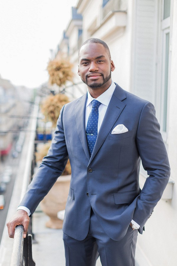 navy groom suit Paris
