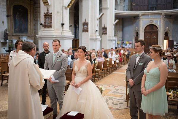pastel green bridesmaid dress