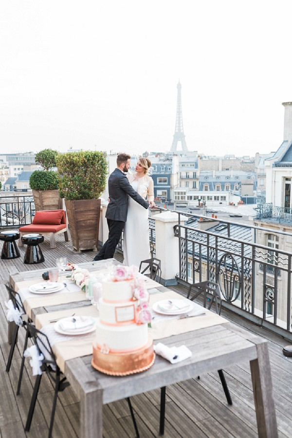 rooftop wedding reception Paris