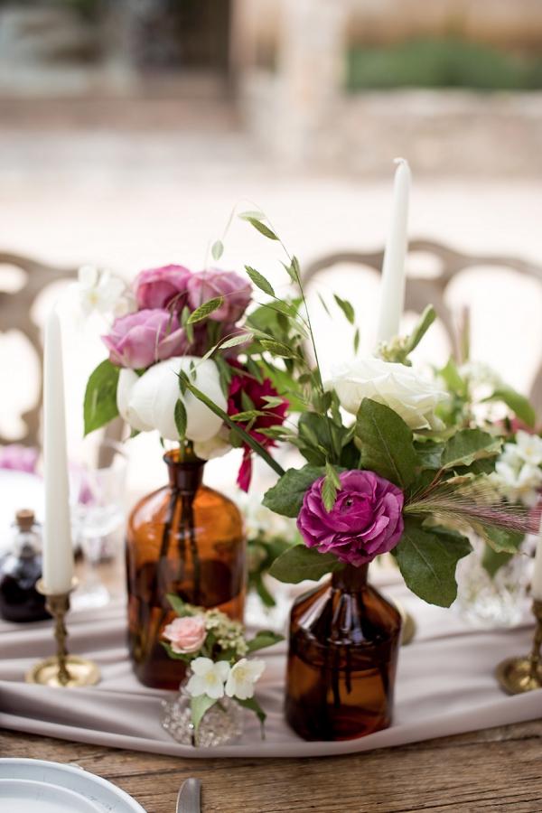 rustic floral decor