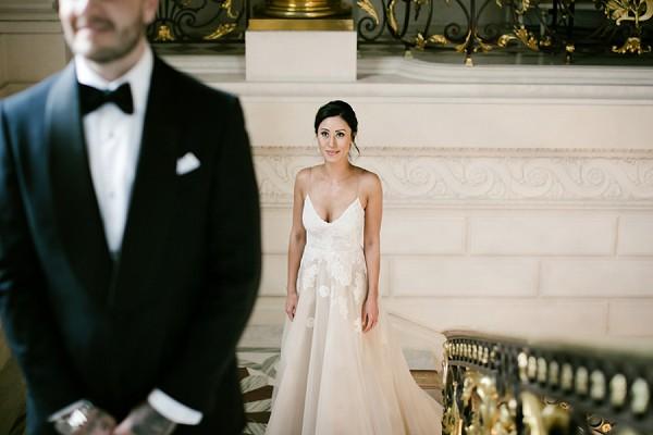 spaggetti strap wedding dress