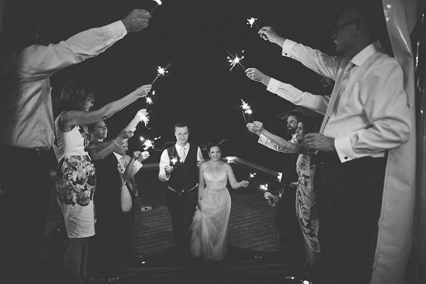 sparkler wedding line