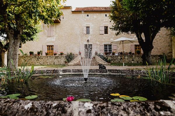 water fall french garden
