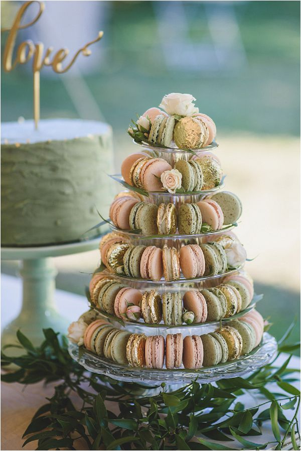 French Inspired Wedding Catering Ideas Macarons Tower