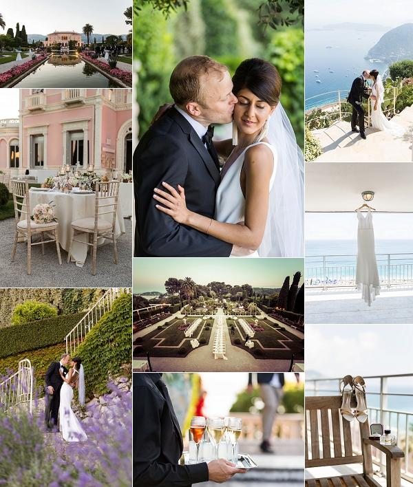 French Riviera Villa Ephrussi de Rothschild Wedding Snapshot