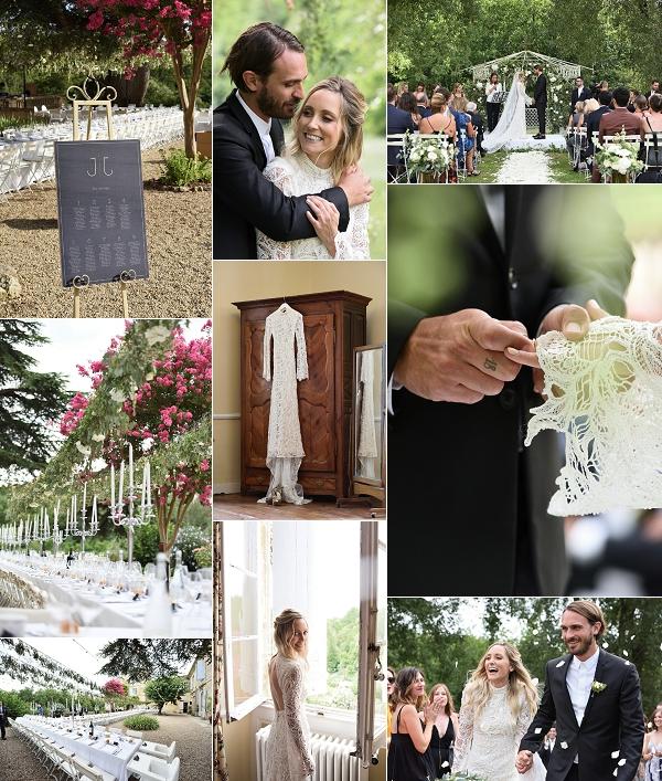 greenery inspired Chateau Lagorce wedding