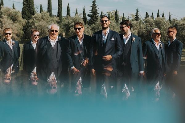 modern groomsmen photo