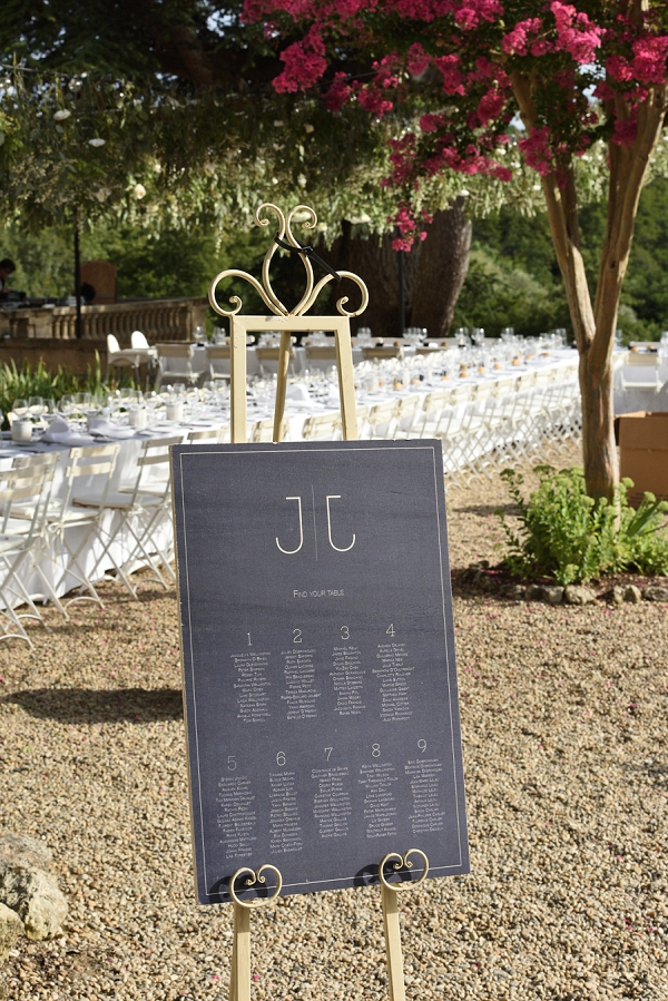 simple and elegant wedding table plan