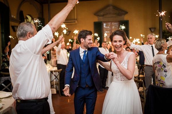 sparkler entrance wedding